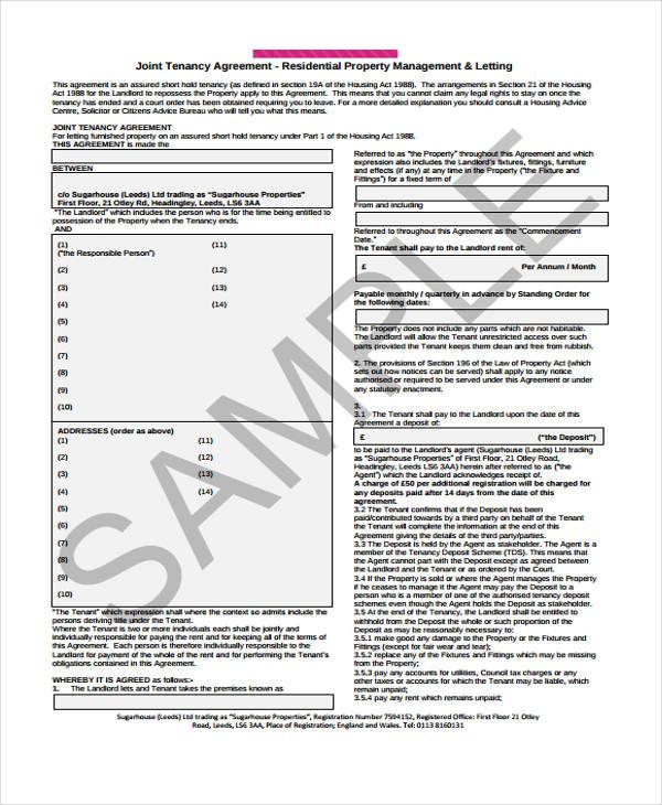 Landlord tenancy agreement download templatescharacterworldco – Landlord Tenancy Agreement Download