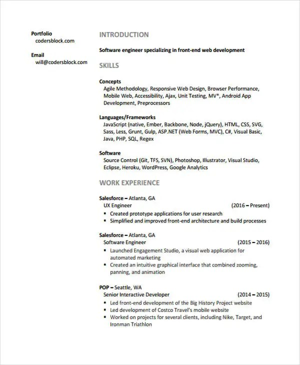 Web Developer Resumes - 9+ Free Word, PDF Format Download Free