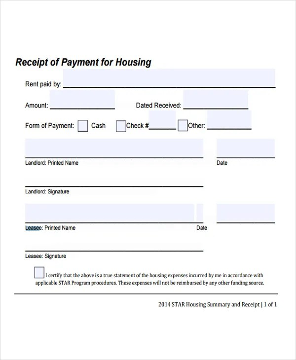 9+ Lease Receipt Templates - Free Sample, Example Format Download