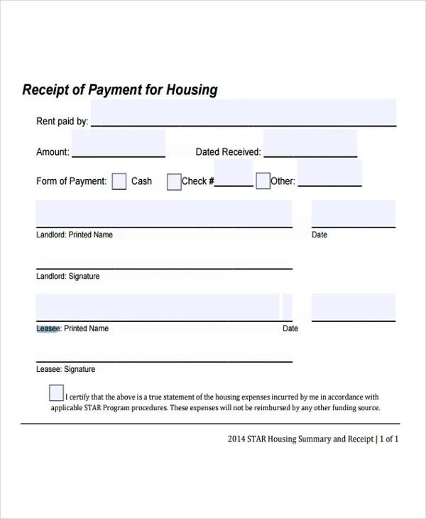 payment received form – Payment Received Format
