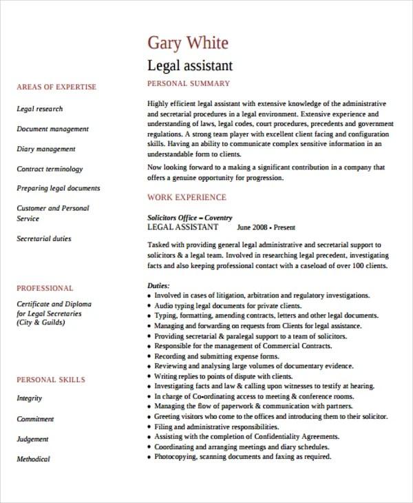 9+ Legal Curriculum Vitae Templates - Word, PDF Free  Premium