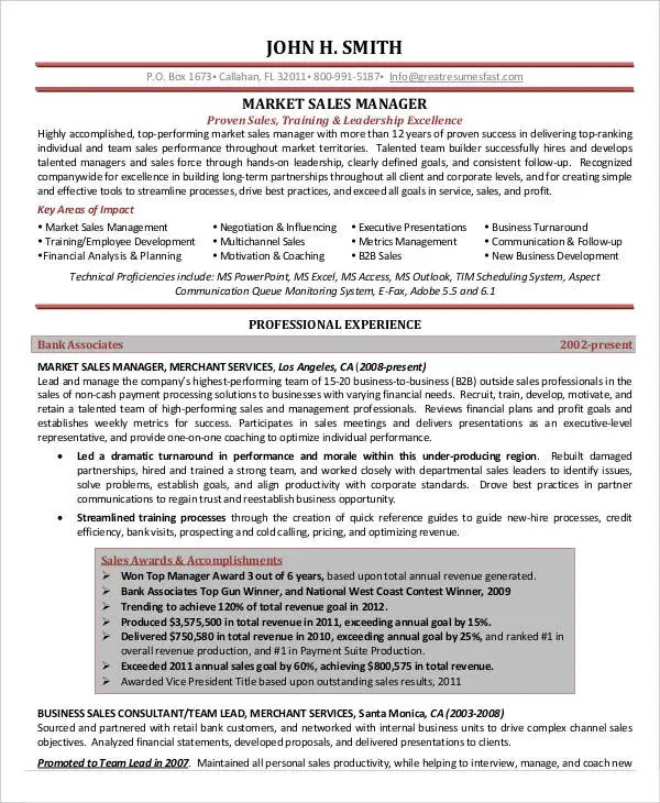 28+ Marketing Resume Templates - PDF, DOC Free  Premium Templates - Channel Sales Resume