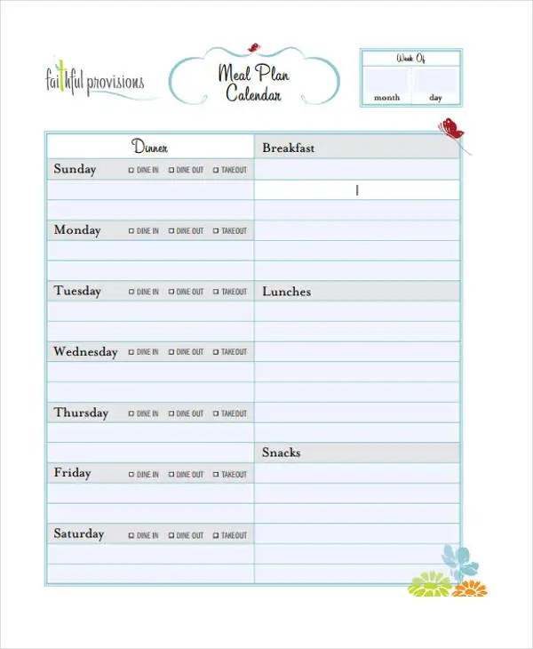 10+ Planning Calendar Templates - Sample, Example Free  Premium - sample planning calendar
