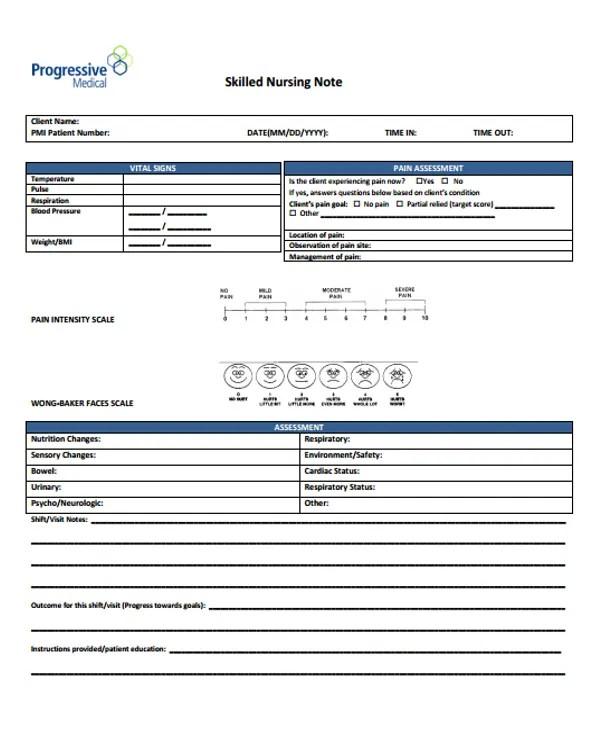 6+ Nursing Note Templates - Free Samples, Examples Format Download - nursing note template
