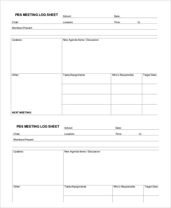 8+ Meeting Sheet Templates - Word, PDF Free  Premium Templates