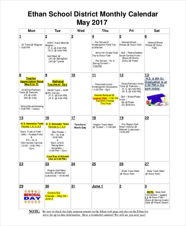 Assessment Calendar Templates Assessment Calendar Templates - 9+ - assessment calendar template