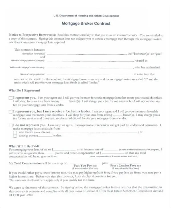 Mortgage Contract Templates - 6+ Free PDF Format Download Free