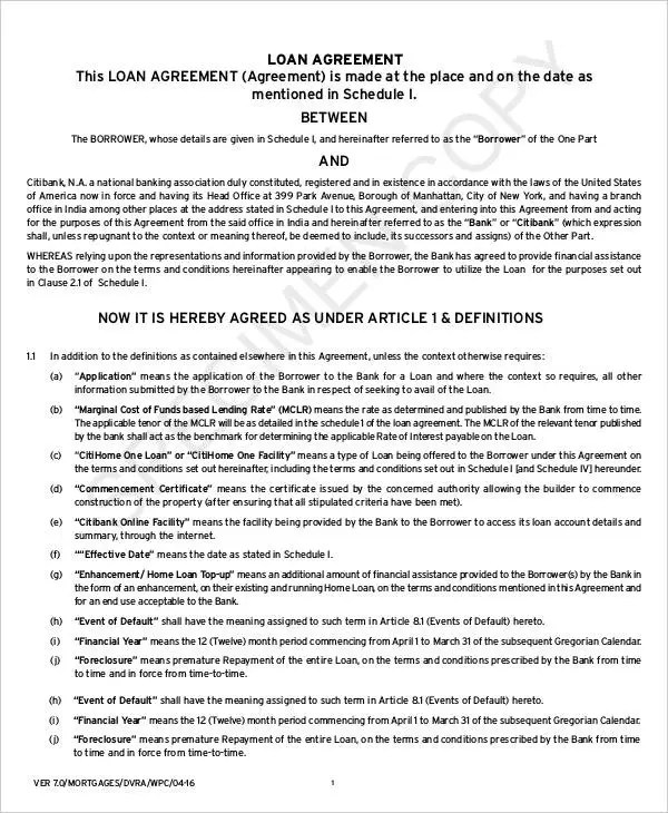 Mortgage Contract Templates - 6+ Free PDF Format Download Free - mortgage contract template