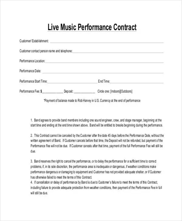 8+ Music Contract Templates - Free Samples, Examples Format - music agreement contract