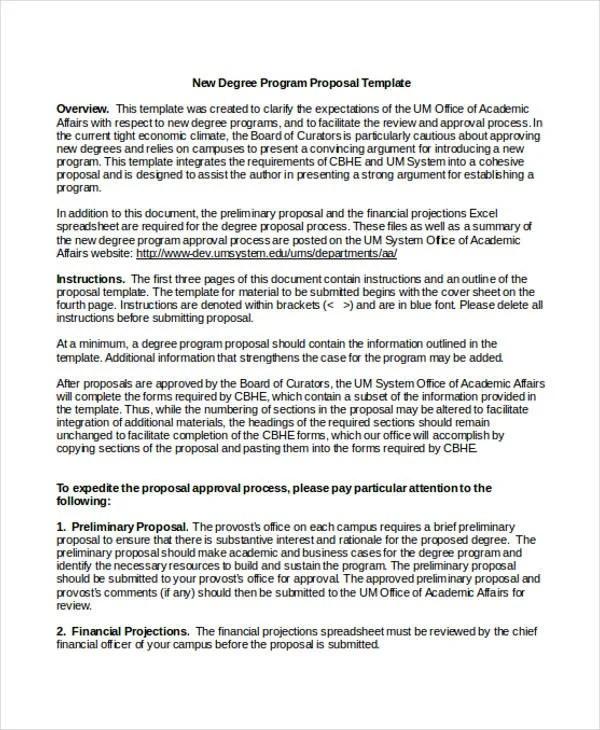 Academic Proposal Templates - 7+ Free Word, PDF Format Download - academic proposal template