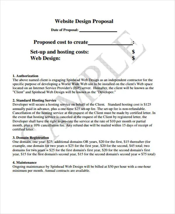 42+ Simple Proposal Templates Free  Premium Templates