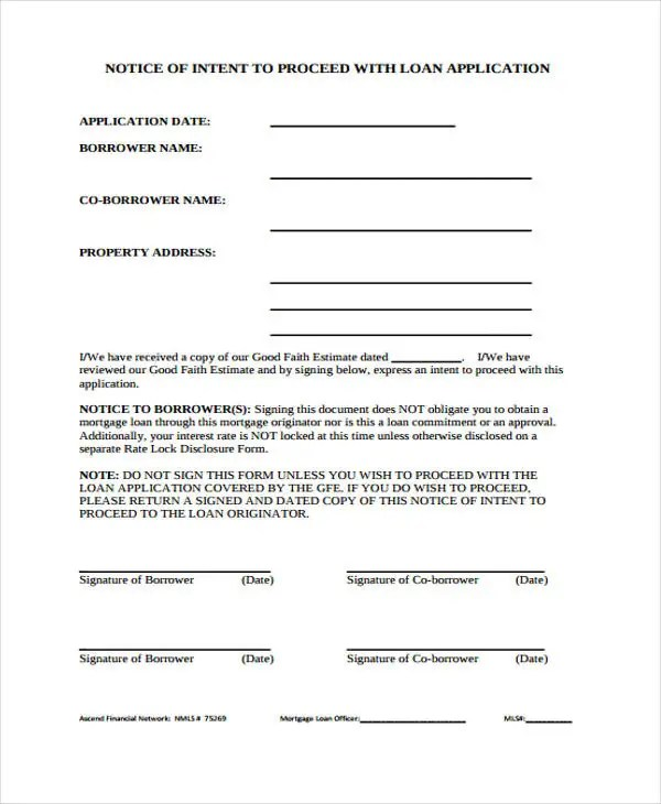 9 Notice To Proceed Templates - Free Sample, Example Format Download - notice form example