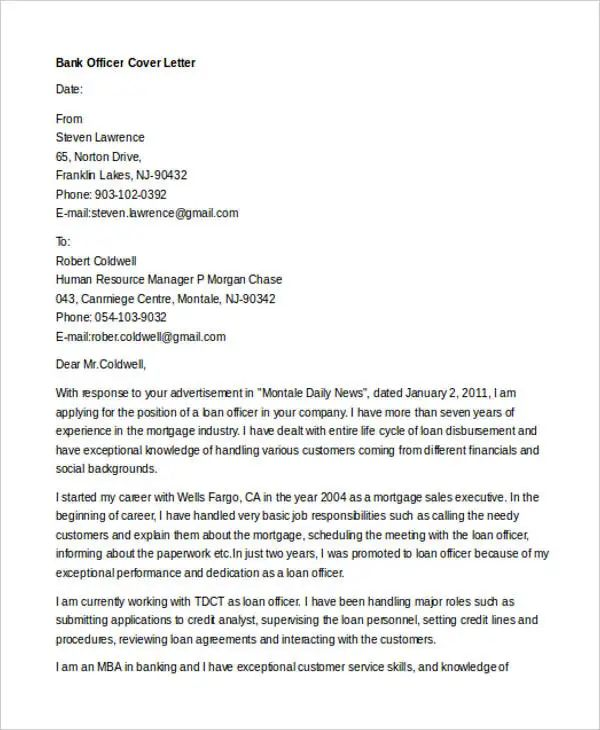 employment application cover letter templates