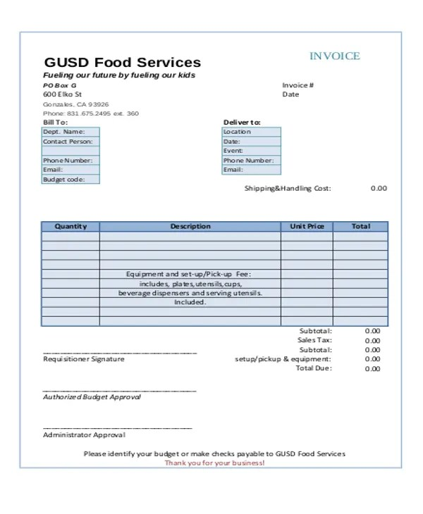 6+ Catering Receipt Templates - Free sample, Example Format Download