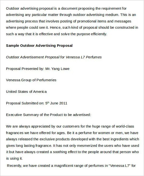 17+ Advertising Proposal Templates - Word, PDF, Pages, Google Docs