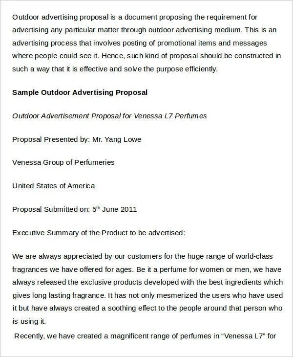 Advertising Proposal Templates - 15+ Free Sample, Example Format