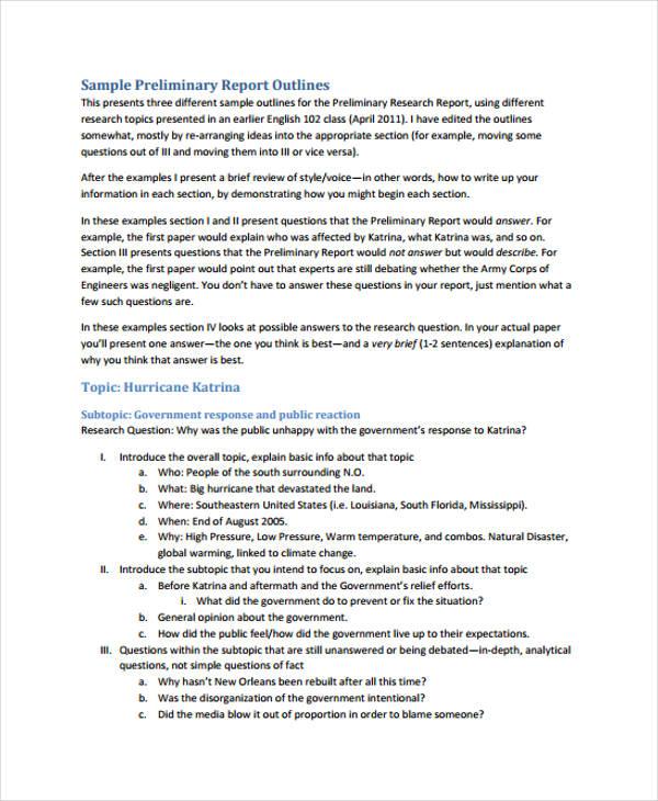 format of report essay