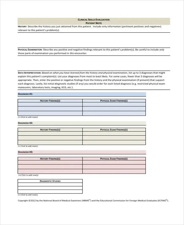 Patient Note Templates - 6+ Free Word, PDF Format Download Free - patient note