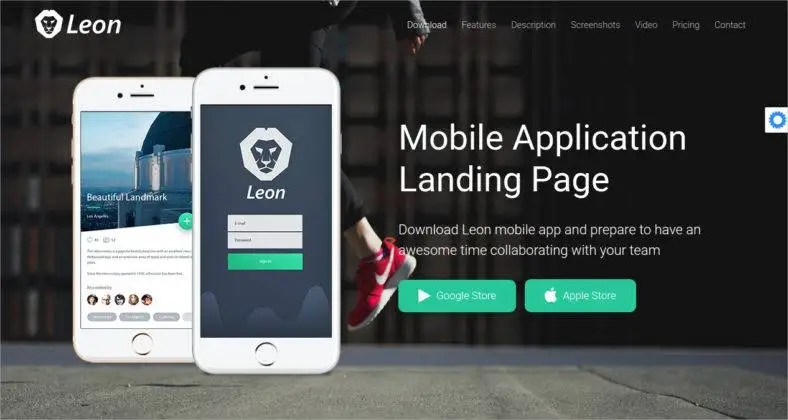 14+ Best Mobile App Landing Page Templates Free  Premium Templates - app landing page template