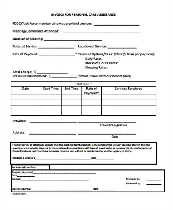39+ Blank Invoice Templates Free \ Premium Templates - personal invoice