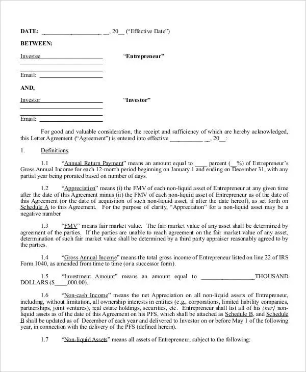 7+ Investment Contract Templates - Free Sample, Example Format