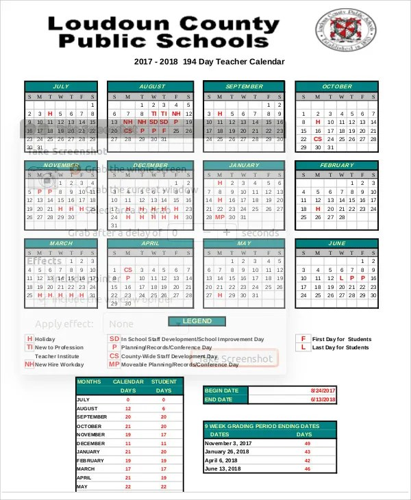7+ Teacher Calendar Templates - Free Sample ,Example Format Download