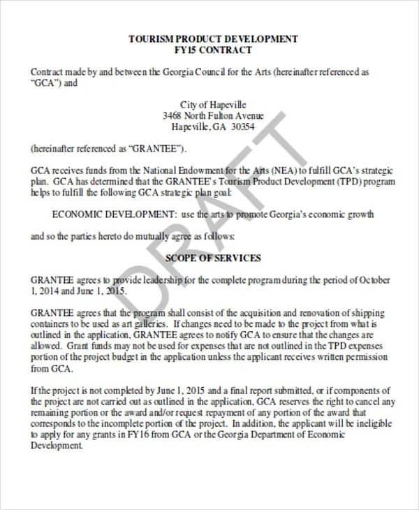 7 Development Contract Templates - Free Sample, Example Format