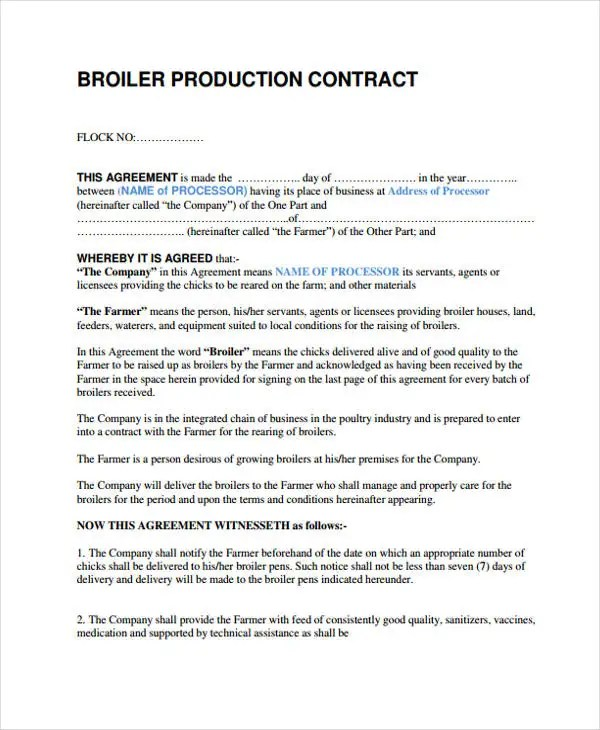 10+ Production Contract Templates - Sample, Example Free - production contract agreement