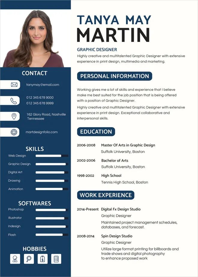 graphic cv template doc free