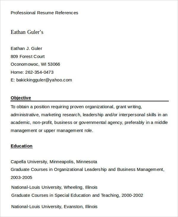 29+ Resume Examples - PDF, DOC Free  Premium Templates