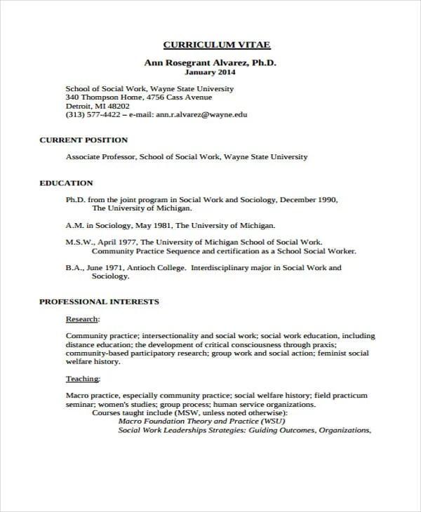 professional social work resumes - Alannoscrapleftbehind
