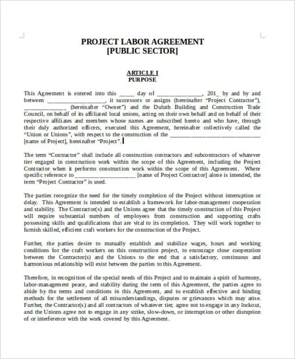 Labor Contract Templates sample subcontractor agreement - 10+ - subcontractor agreement template