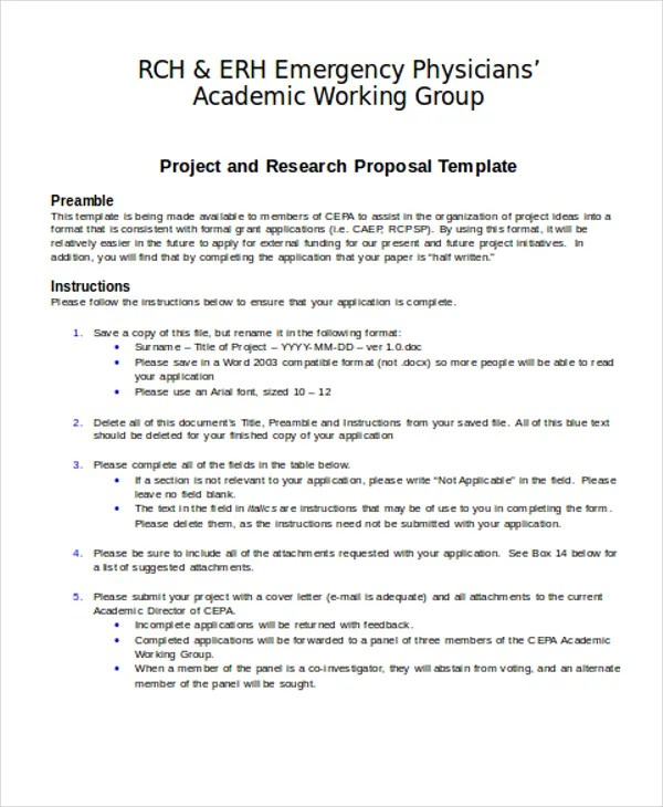 35+ Proposal Templates in Doc Free  Premium Templates - academic proposal template