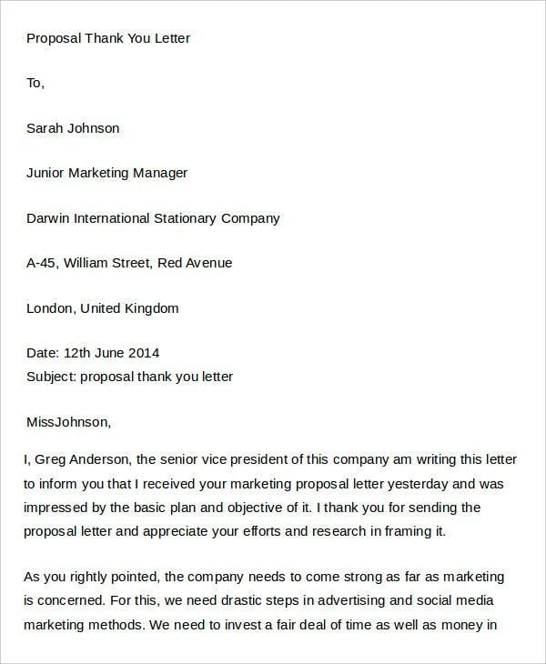 29+ Proposal Letter Templates Free  Premium Templates - marketing proposal letter