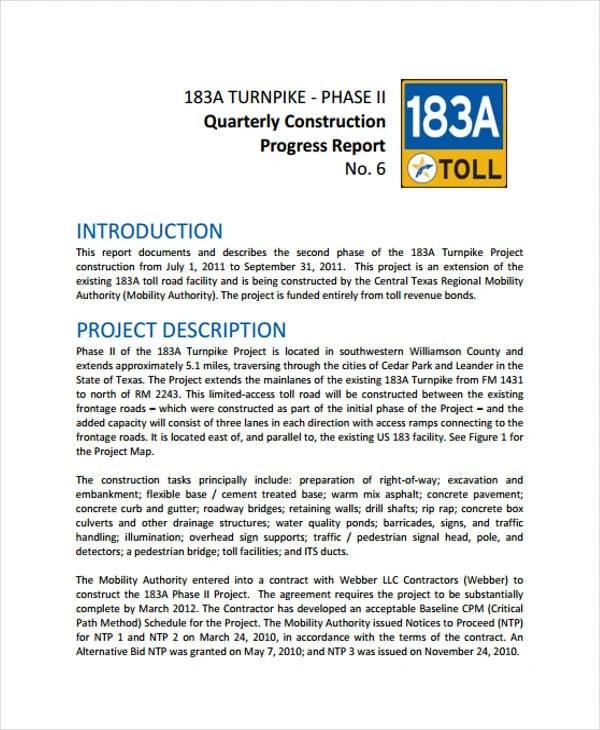 16+ Construction Report Templates Free  Premium Templates