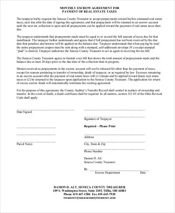 11+ Escrow Agreement Templates - Free Word, PDF Format Download