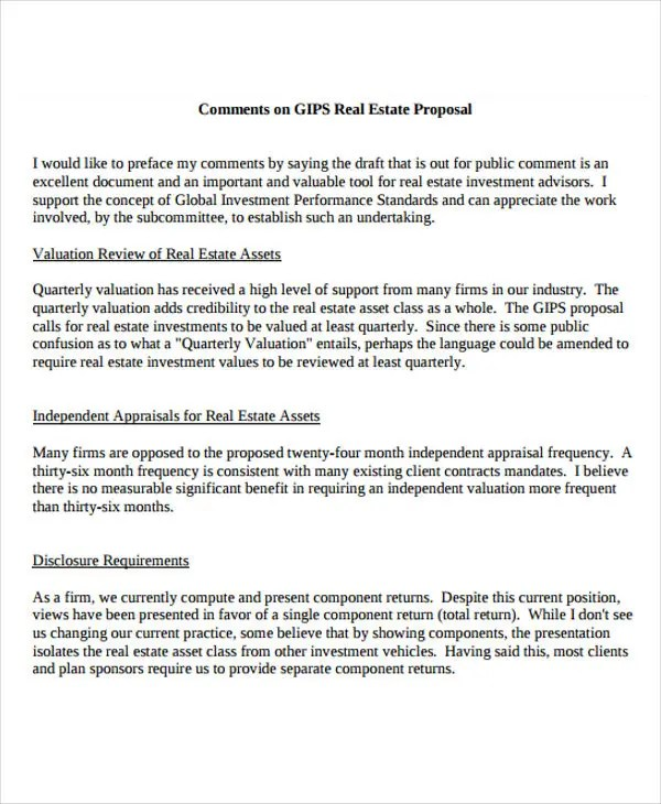 12 Real Estate Business Proposal Templates - Free Sample, Example