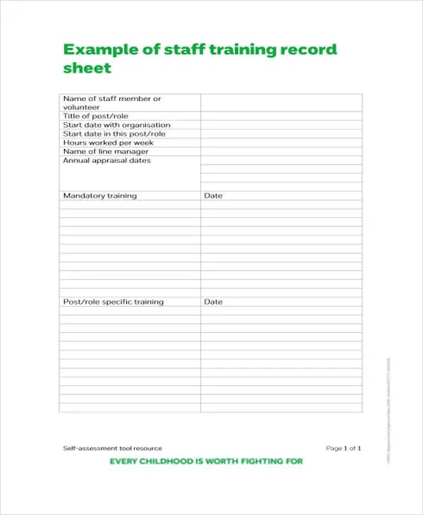 8+ Training Sheet Templates - Free Sample, Example Format Downlaod - training sign in sheet example