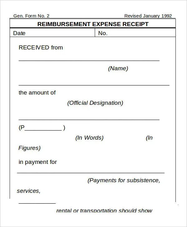 4+ Expense Receipt Templates - Free Sample, Example Format Download - Expenses Templates