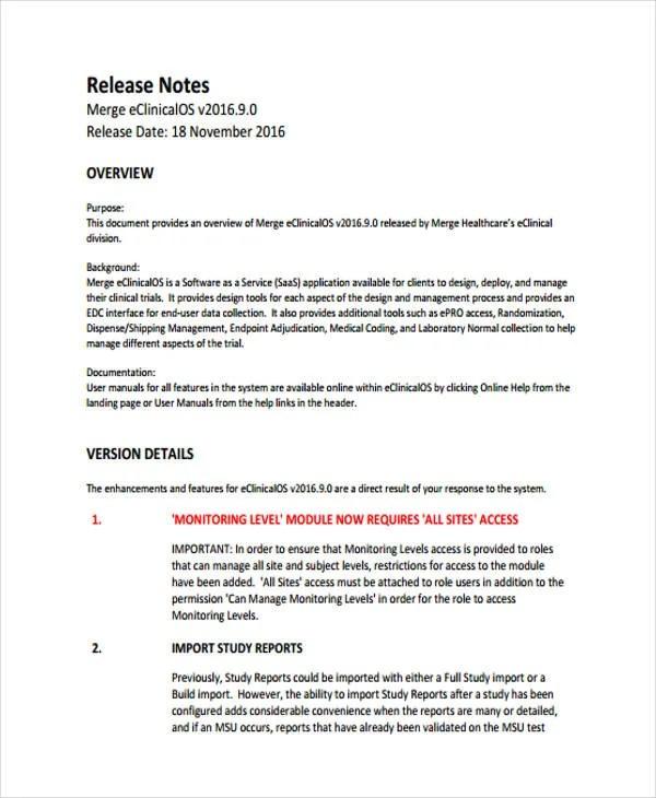 Release Note Template  NodeCvresumePaasproviderCom