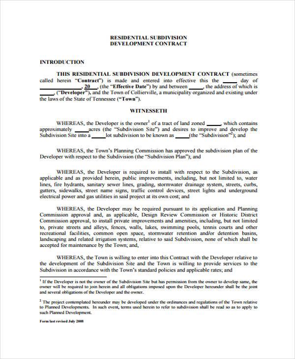 Development Contract Templates business development agreement - commission contract template