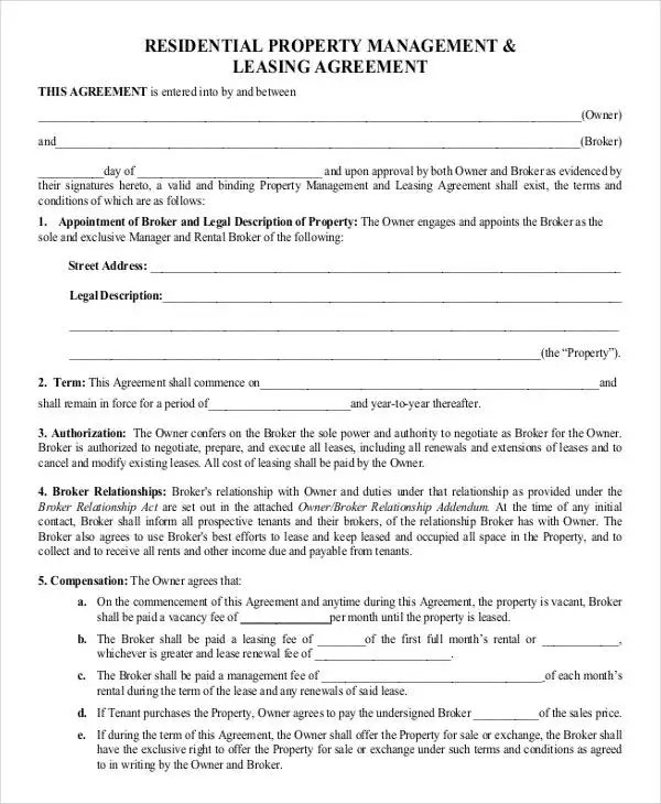 8+ Property Contract Templates - Sample, Examples Free  Premium