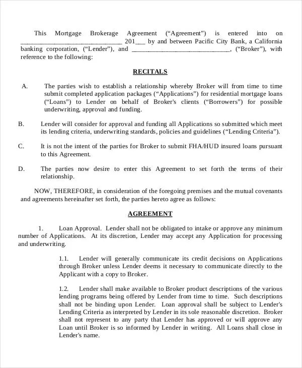 6+ Mortgage Contract Templates - Free Sample, Example Format - mortgage contract template