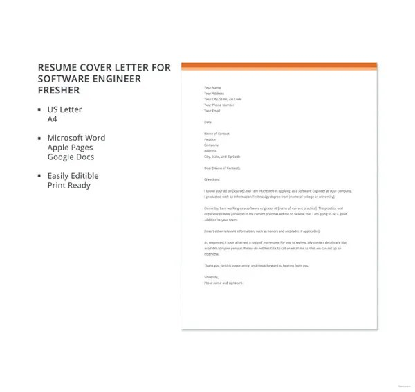 8+ Software Developer Cover Letter Templates - Free Sample, Example