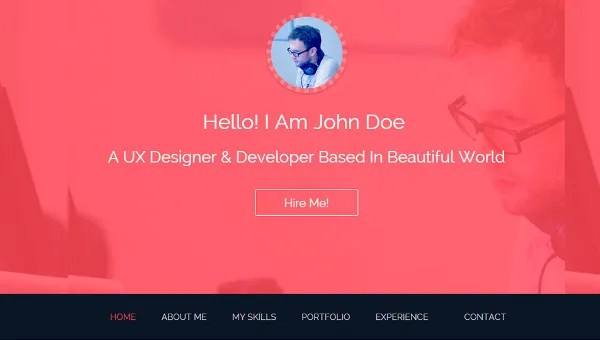 12+ Bootstrap Resume Templates - Responsive, HTML Bootstrap