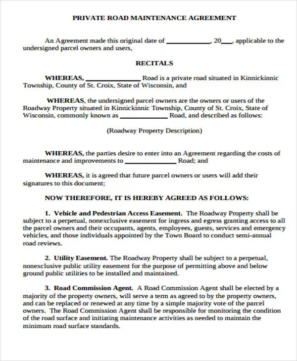 Maintenance Agreement Templates - 9+ Free Sample, Example Format