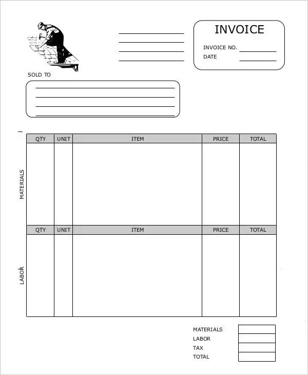 8+ Roofing Invoice Templates - Free Word, PDF Format Download Free