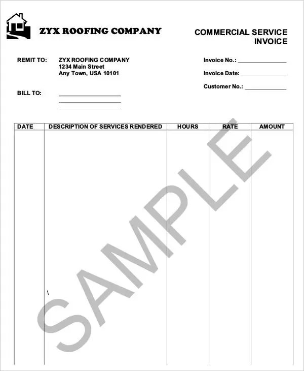 6+ Roofing Invoice Templates - Free Sample, Example Format Download