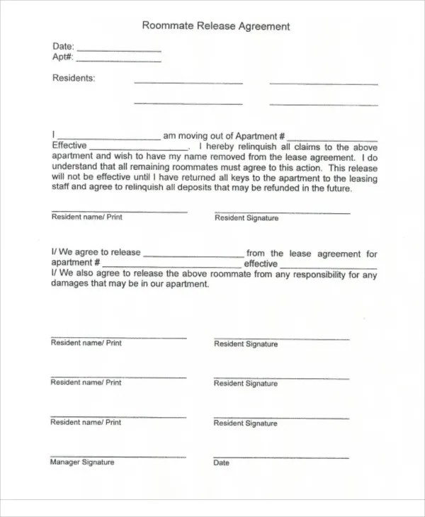 9+ Release Agreement Templates - Free Sample, Example Format - key release form