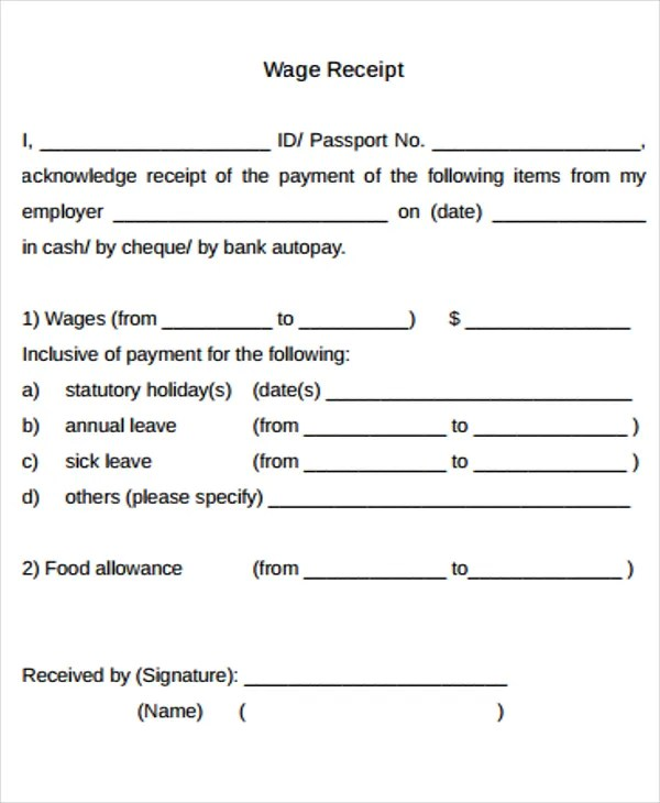 15+ Salary Receipt Templates - Free Sample, Example Format Download - cash received receipt